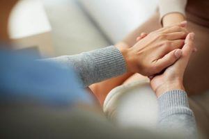 a doctor giving reassurance during outpatient treatment